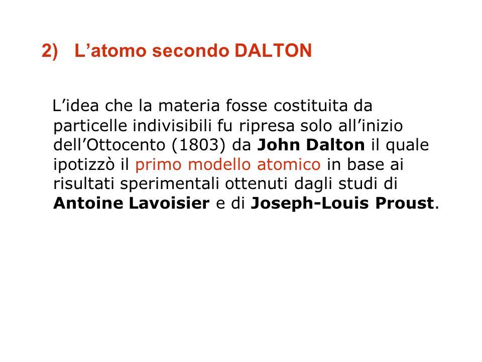 2) L'atomo secondo DALTON