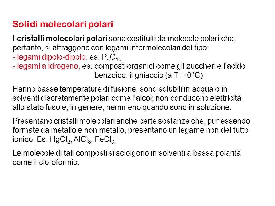Solidi molecolari polari