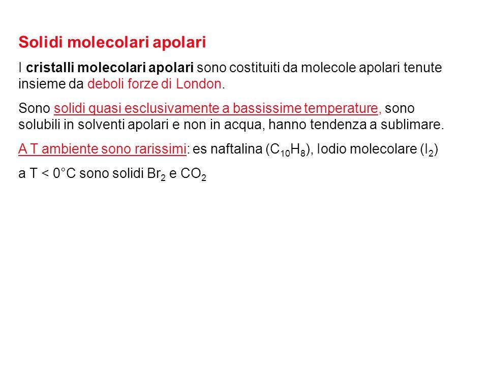 Solidi molecolari apolari