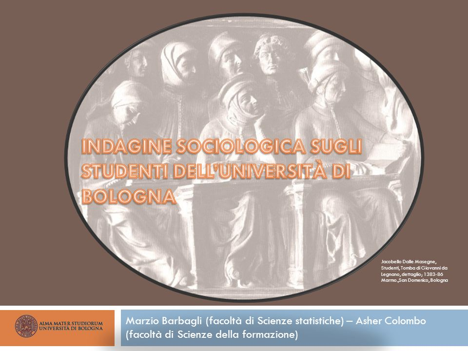 INDAGINE SOCIOLOGICA SUGLI STUDENTI DELL'UNIVERSITÀ DI BOLOGNA