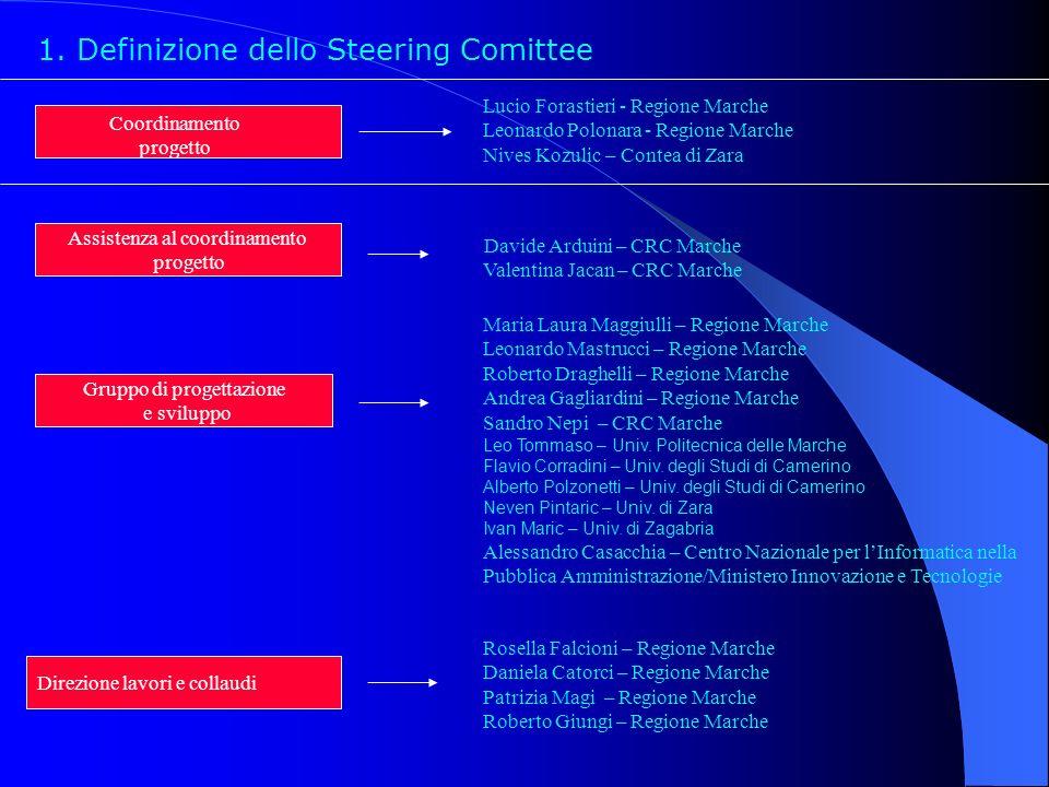1. Definizione dello Steering Comittee