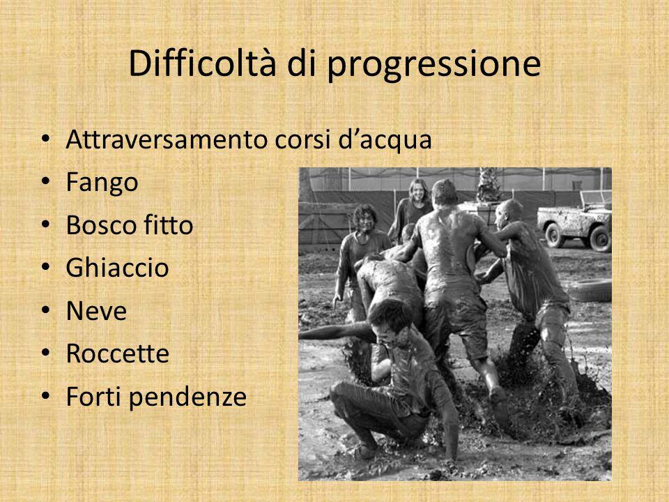 Difficoltà di progressione