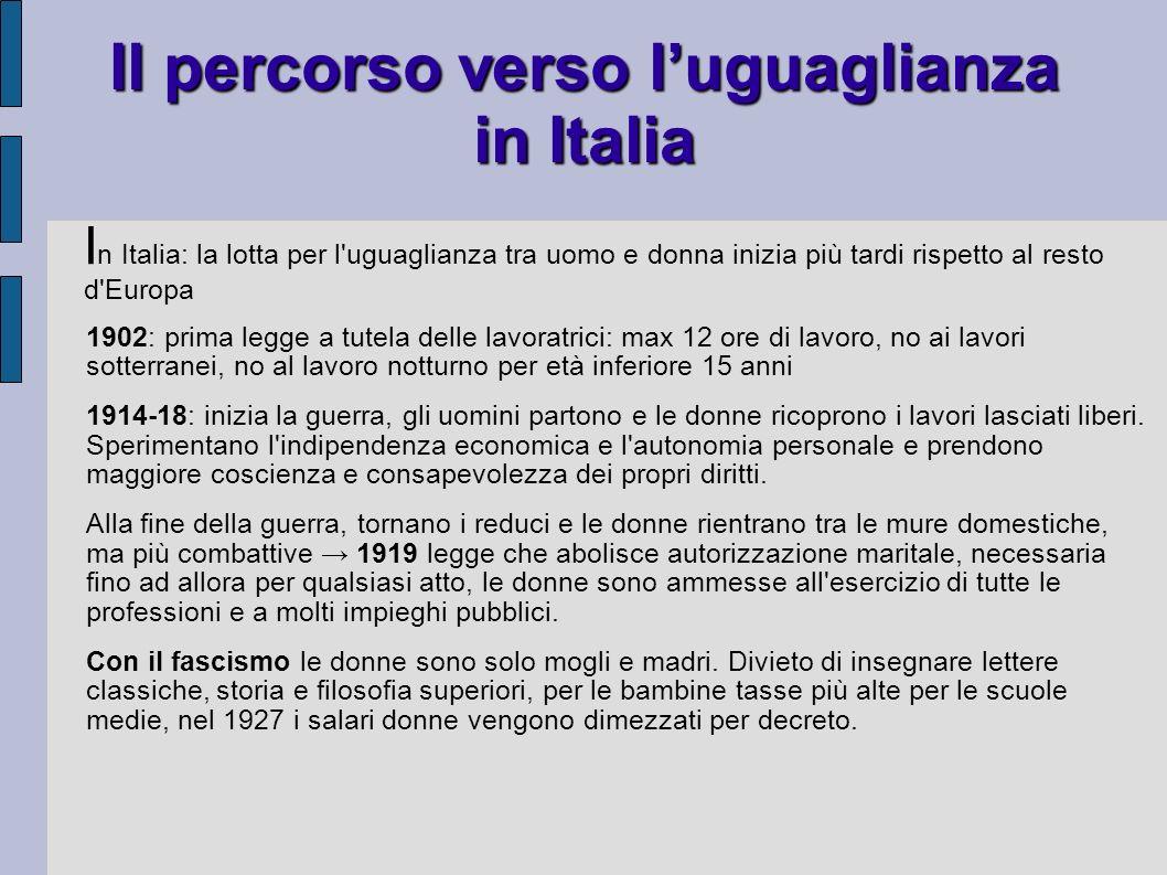 Il percorso verso l'uguaglianza in Italia