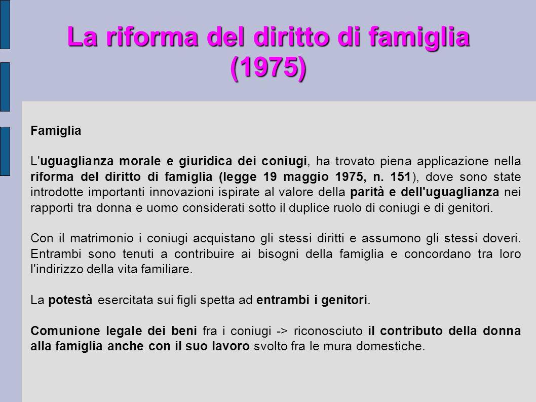 La riforma del diritto di famiglia (1975)