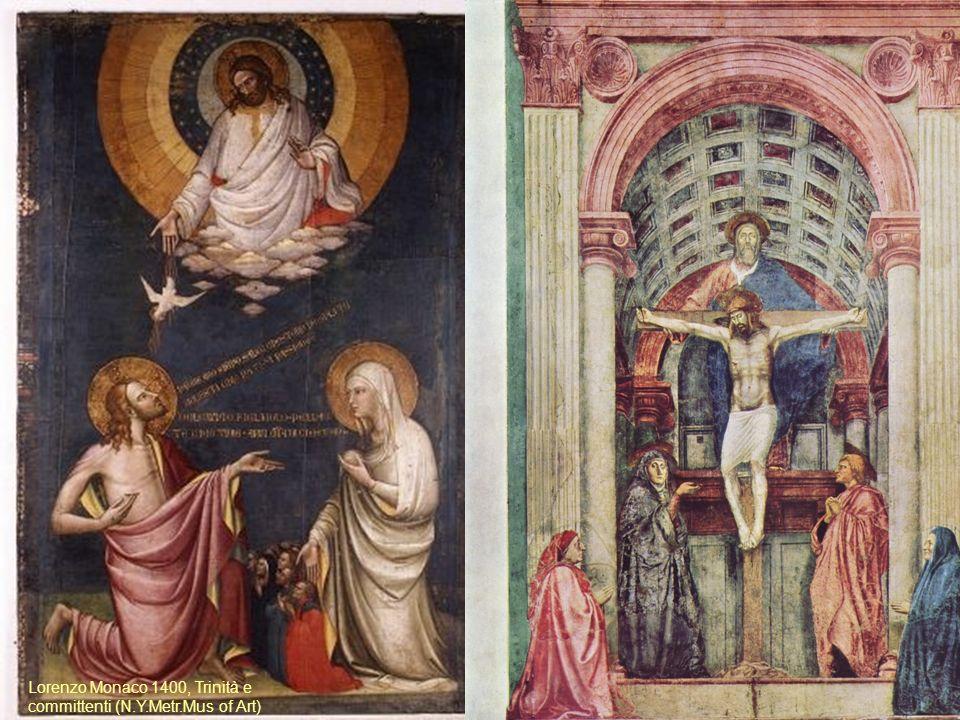 Lorenzo Monaco 1400, Trinità e committenti (N.Y.Metr.Mus of Art)