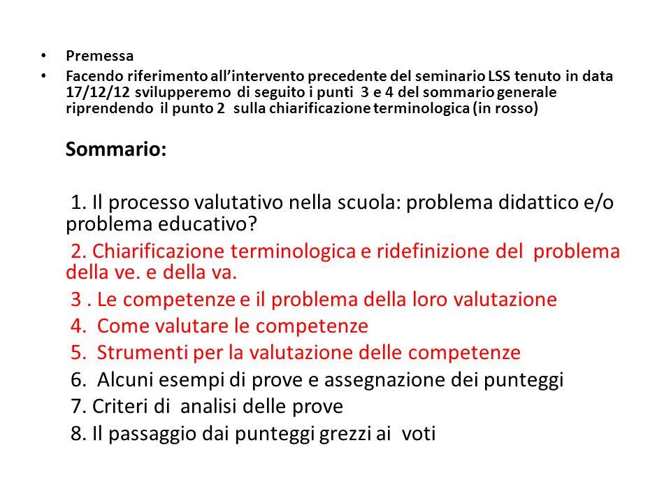 3 . Le competenze e il problema della loro valutazione