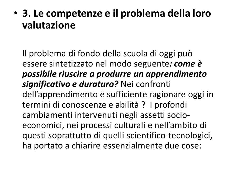 3. Le competenze e il problema della loro valutazione