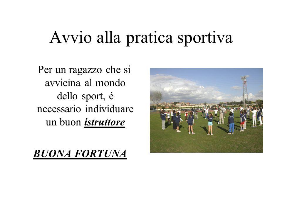 Avvio alla pratica sportiva