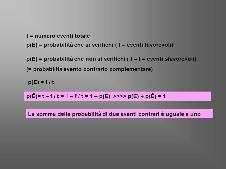 t = numero eventi totale