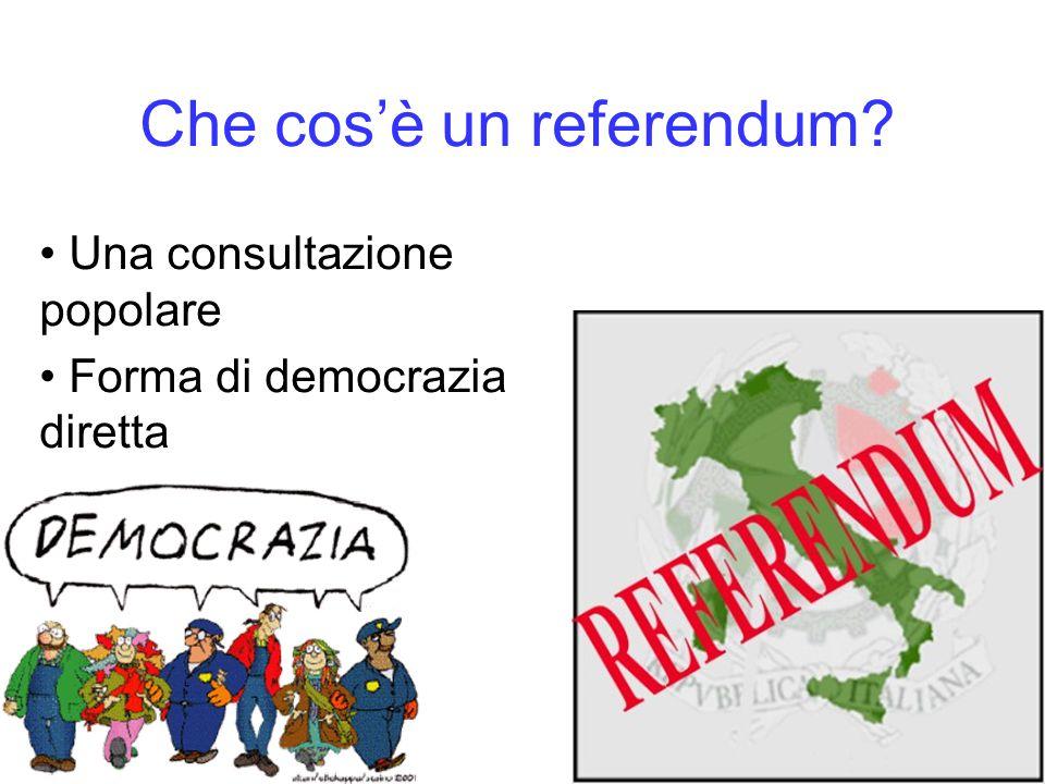 Che cos'è un referendum