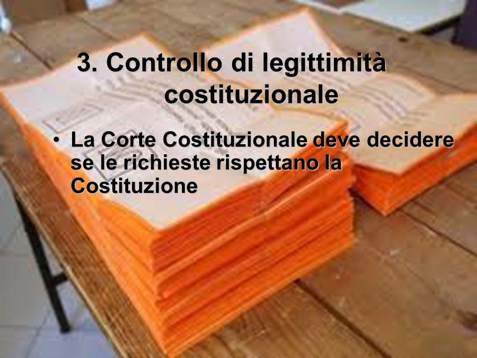 3. Controllo di legittimità costituzionale