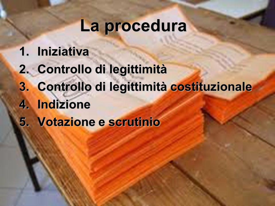 La procedura Iniziativa Controllo di legittimità