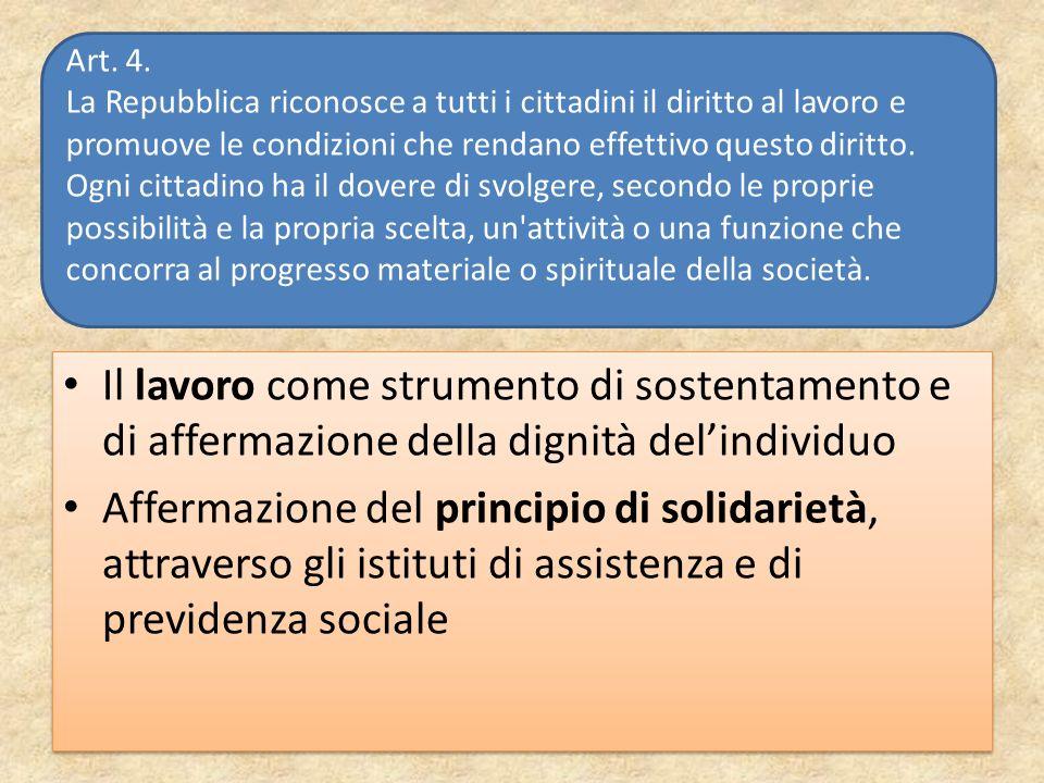 Art. 4. La Repubblica riconosce a tutti i cittadini il diritto al lavoro e promuove le condizioni che rendano effettivo questo diritto.