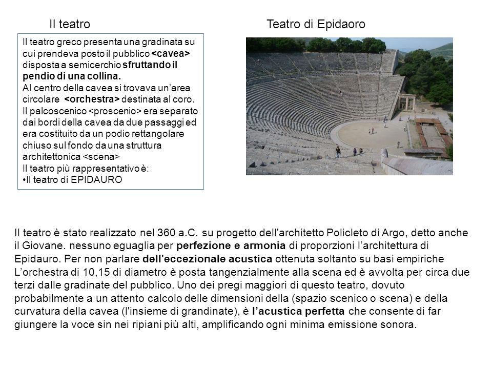 Il teatro Teatro di Epidaoro