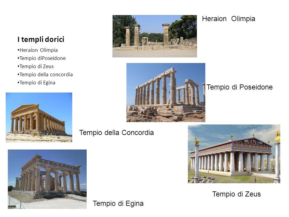 I templi dorici Heraion Olimpia Tempio di Poseidone