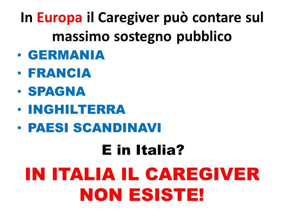 In Europa il Caregiver può contare sul massimo sostegno pubblico