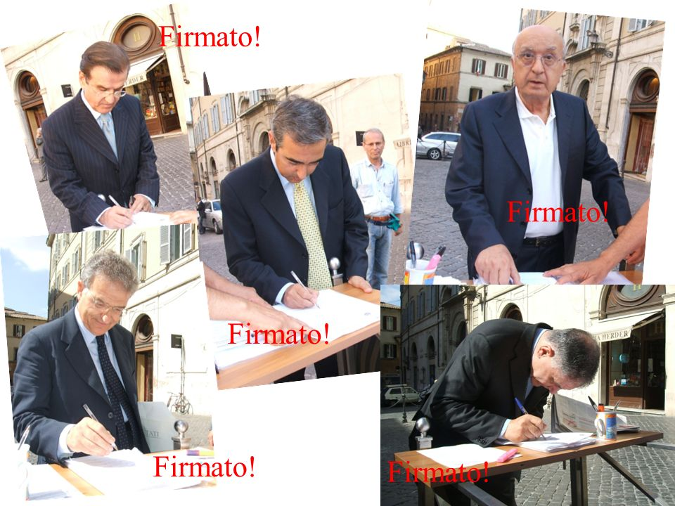 Firmato! Firmato! Firmato! Firmato! Firmato! Firmato!