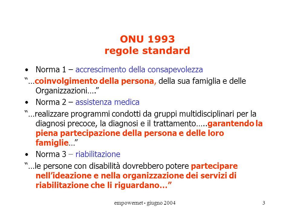 ONU 1993 regole standard Norma 1 – accrescimento della consapevolezza