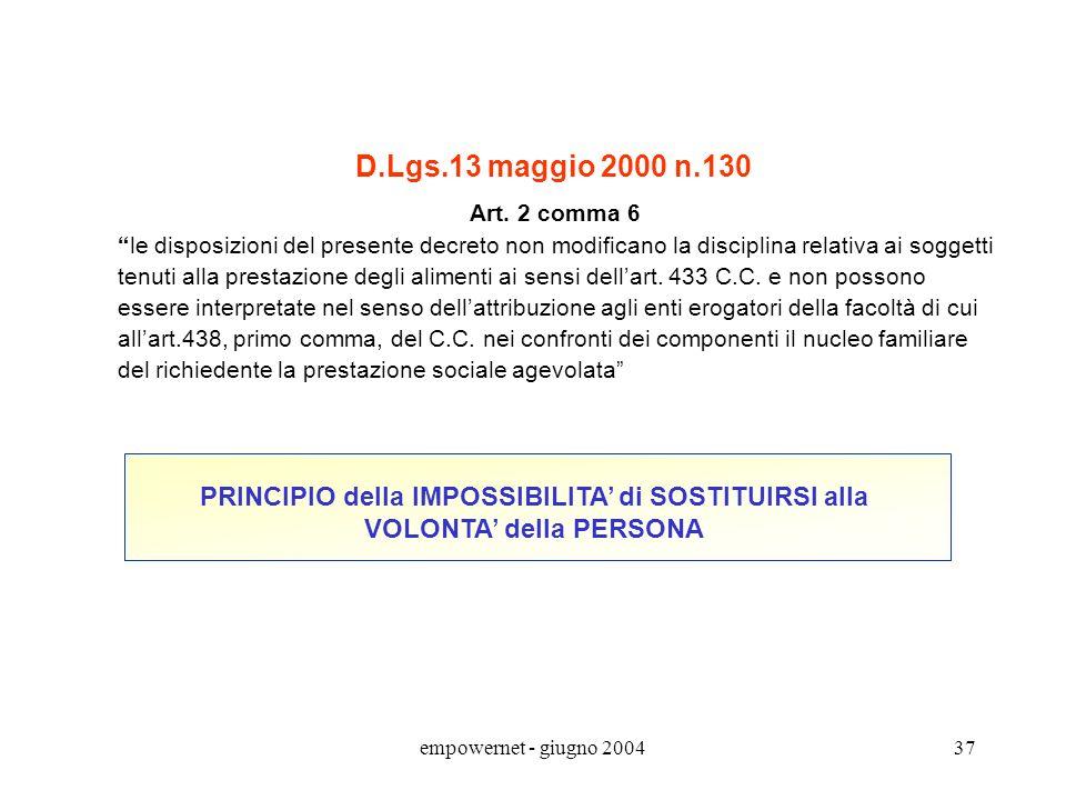 D.Lgs.13 maggio 2000 n.130 Art. 2 comma 6. le disposizioni del presente decreto non modificano la disciplina relativa ai soggetti.
