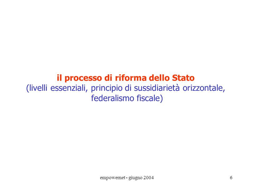 il processo di riforma dello Stato