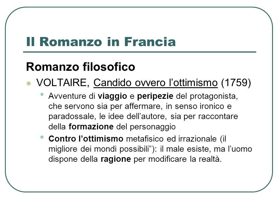 Il Romanzo in Francia Romanzo filosofico
