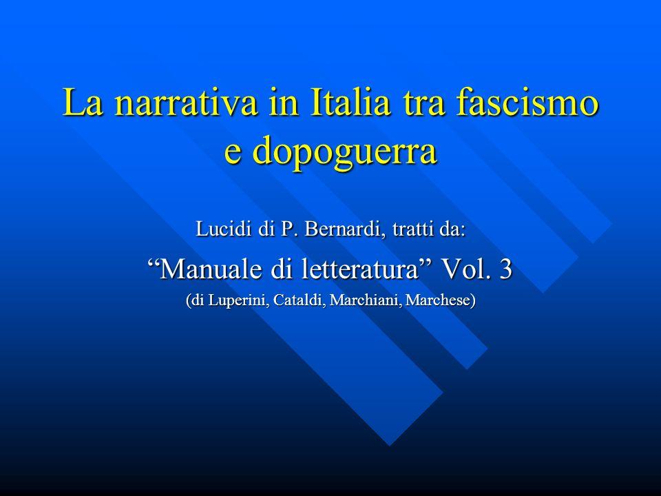 La narrativa in Italia tra fascismo e dopoguerra