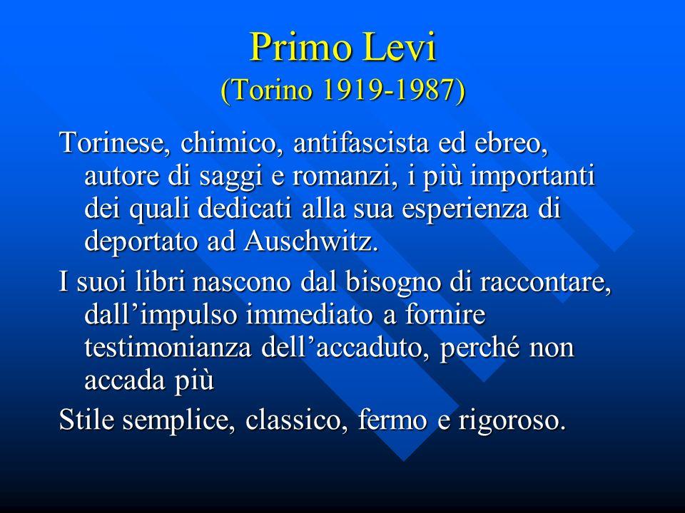 Primo Levi (Torino 1919-1987)