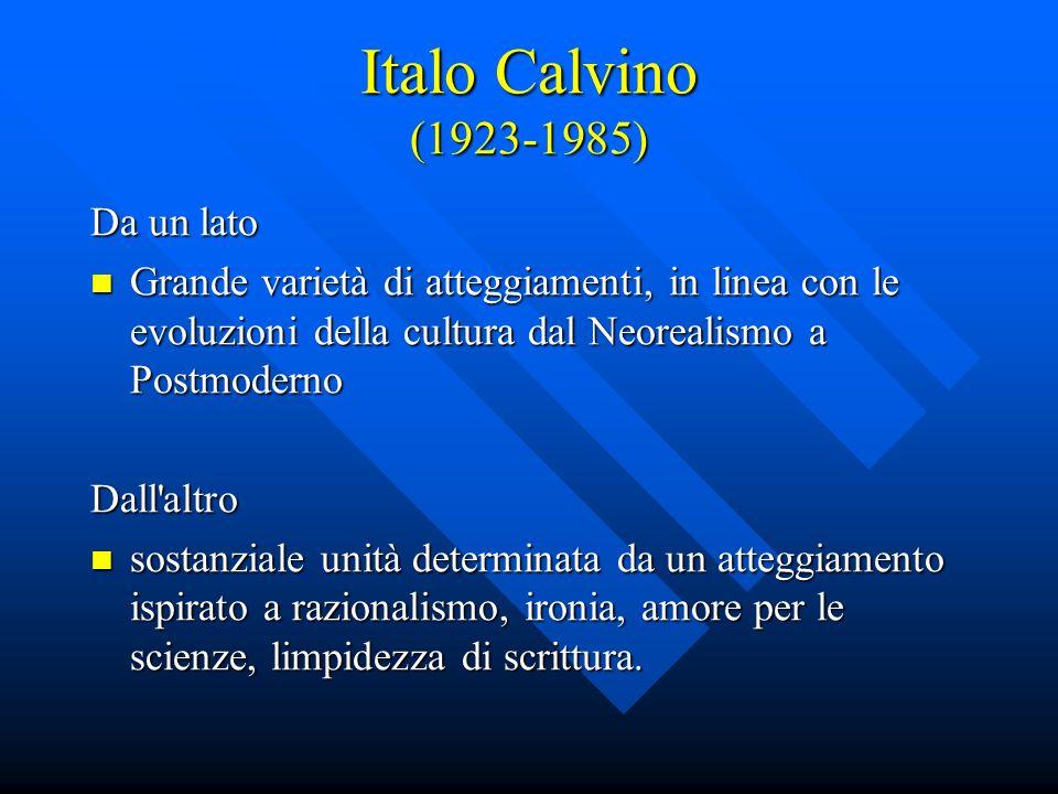 Italo Calvino (1923-1985) Da un lato