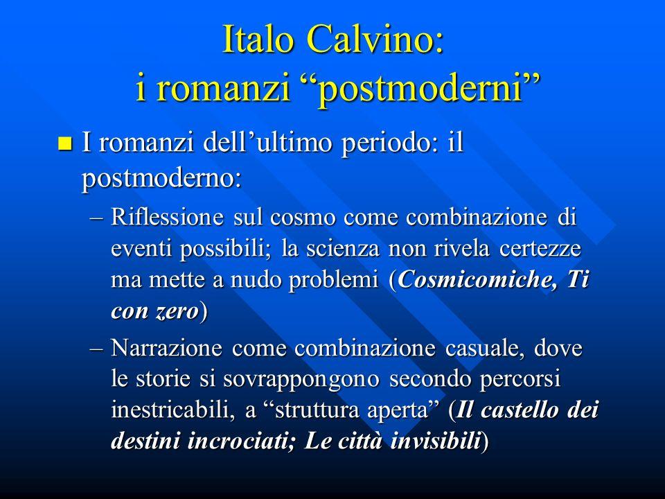Italo Calvino: i romanzi postmoderni