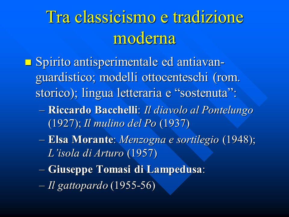 Tra classicismo e tradizione moderna