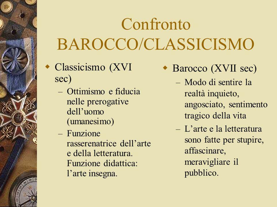 Confronto BAROCCO/CLASSICISMO