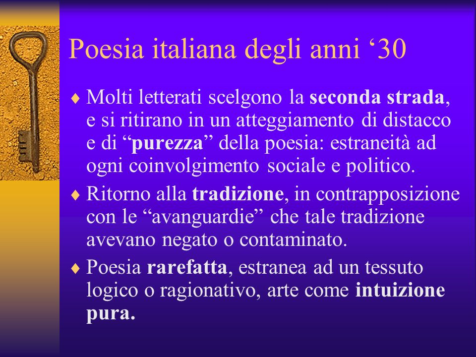 Poesia italiana degli anni '30