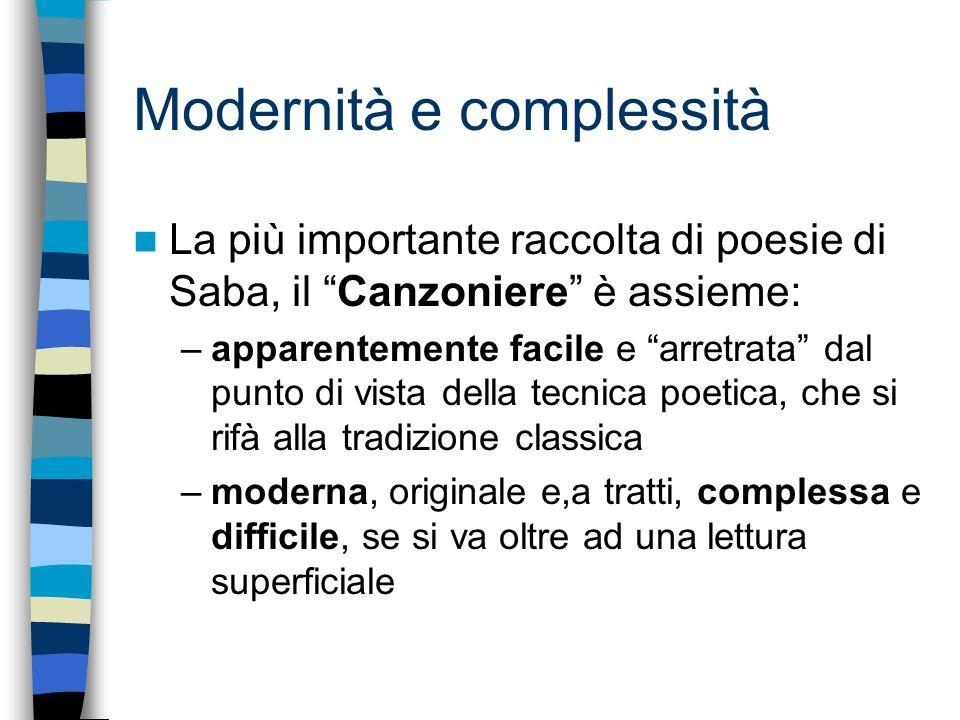 Modernità e complessità