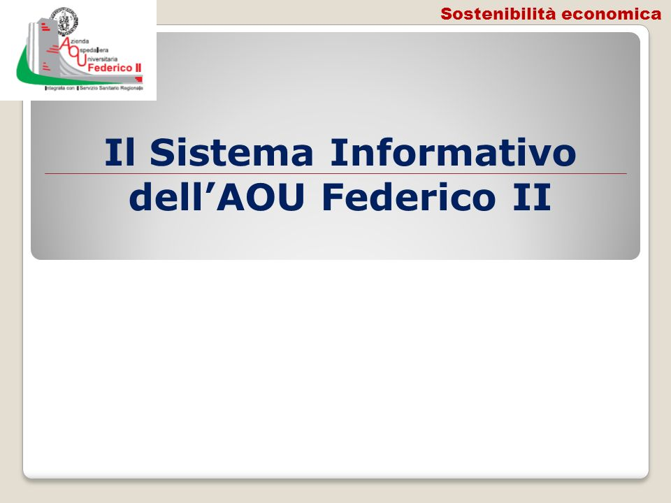 Il Sistema Informativo dell'AOU Federico II