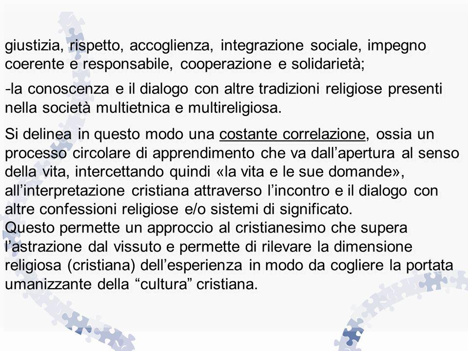 giustizia, rispetto, accoglienza, integrazione sociale, impegno