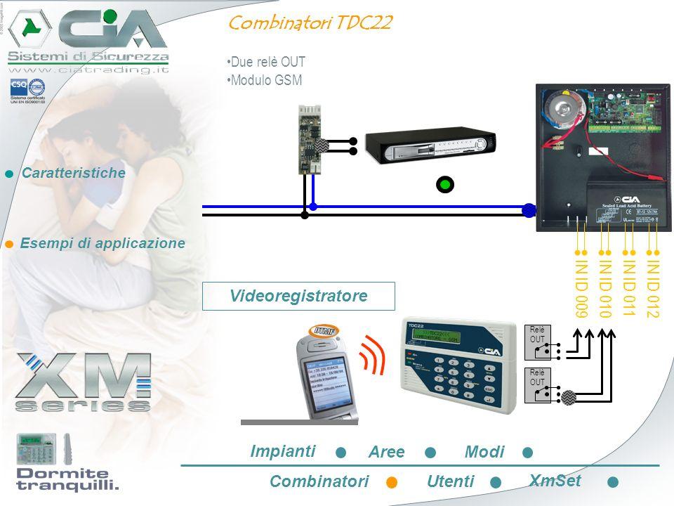 Combinatori TDC22 IN ID 009 IN ID 010 IN ID 011 IN ID 012