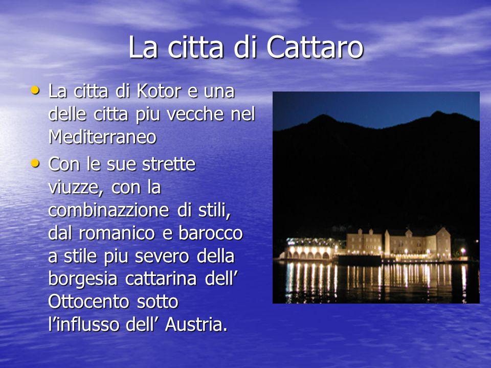 La citta di Cattaro La citta di Kotor e una delle citta piu vecche nel Mediterraneo.