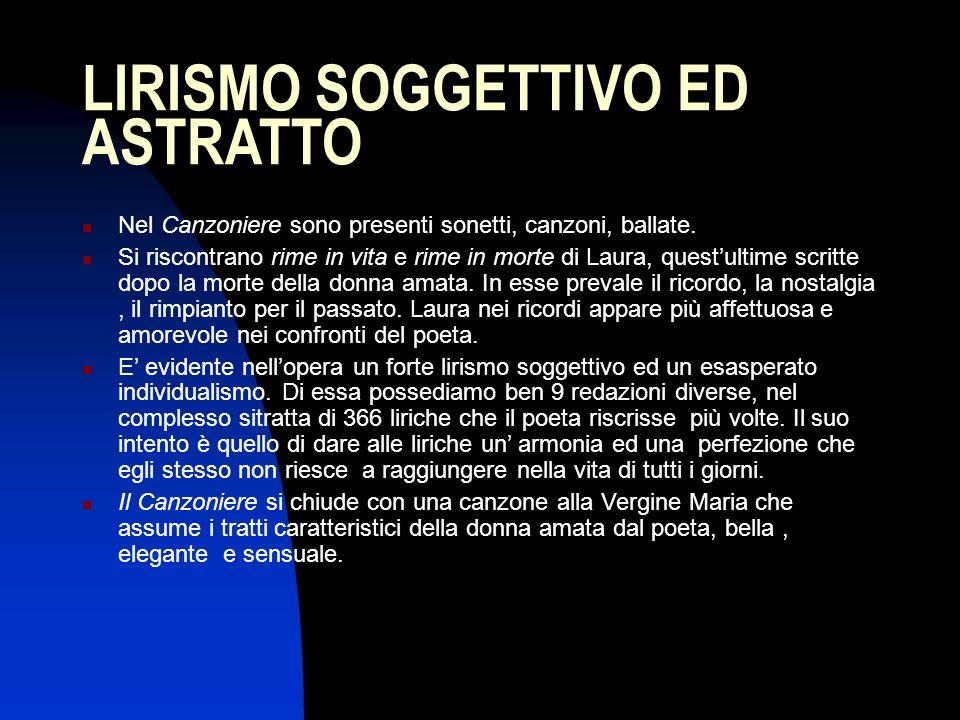 LIRISMO SOGGETTIVO ED ASTRATTO