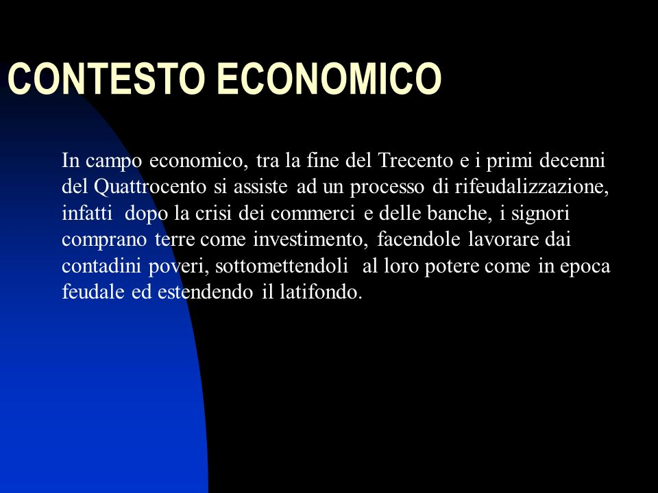 CONTESTO ECONOMICO