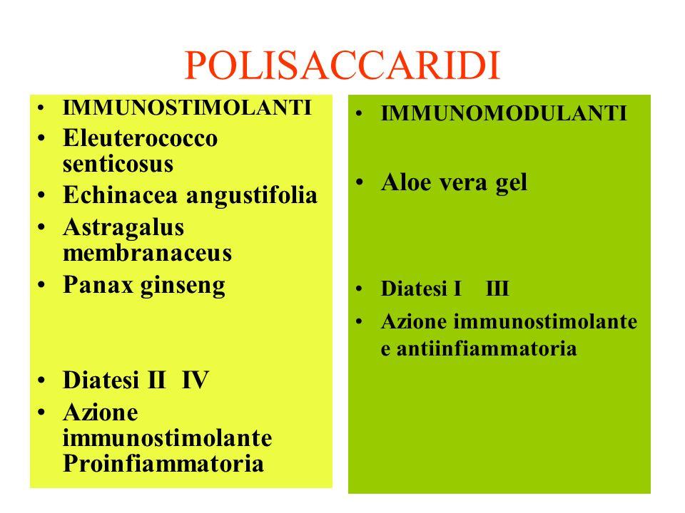 POLISACCARIDI Eleuterococco senticosus Aloe vera gel