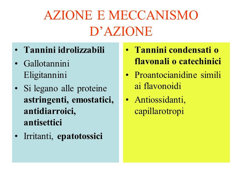 AZIONE E MECCANISMO D'AZIONE