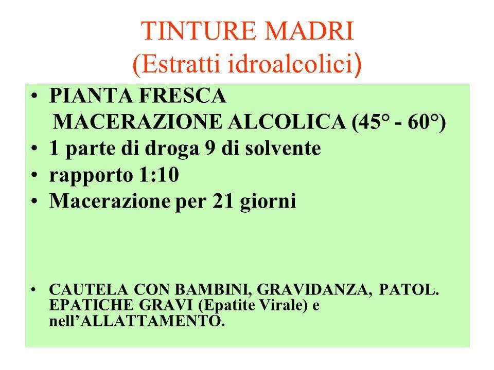 TINTURE MADRI (Estratti idroalcolici)