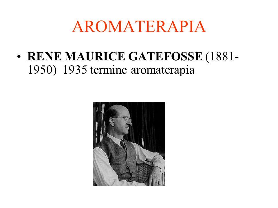 AROMATERAPIA RENE MAURICE GATEFOSSE (1881-1950) 1935 termine aromaterapia