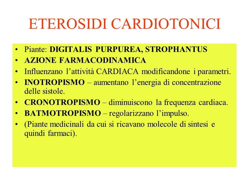 ETEROSIDI CARDIOTONICI