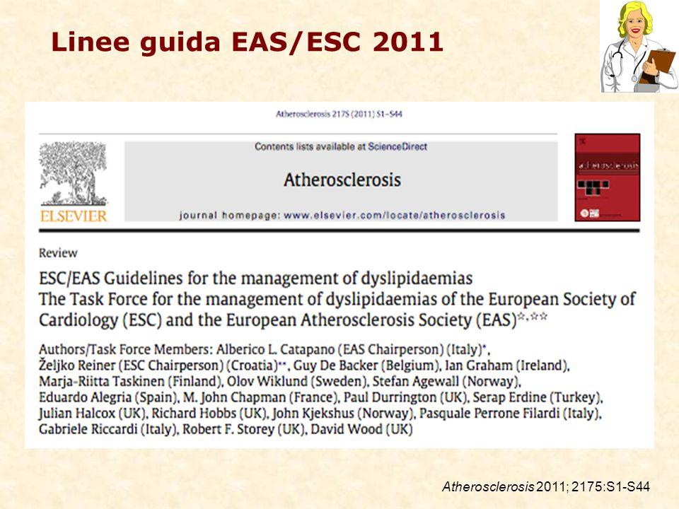 Linee guida EAS/ESC 2011 Atherosclerosis 2011; 2175:S1-S44