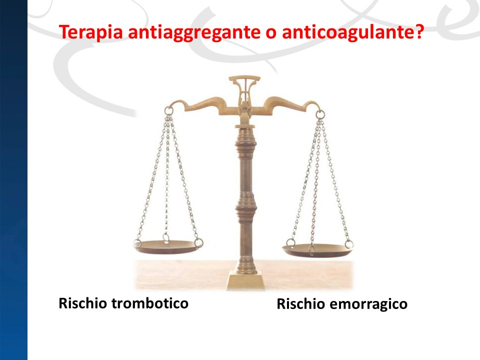 Terapia antiaggregante o anticoagulante