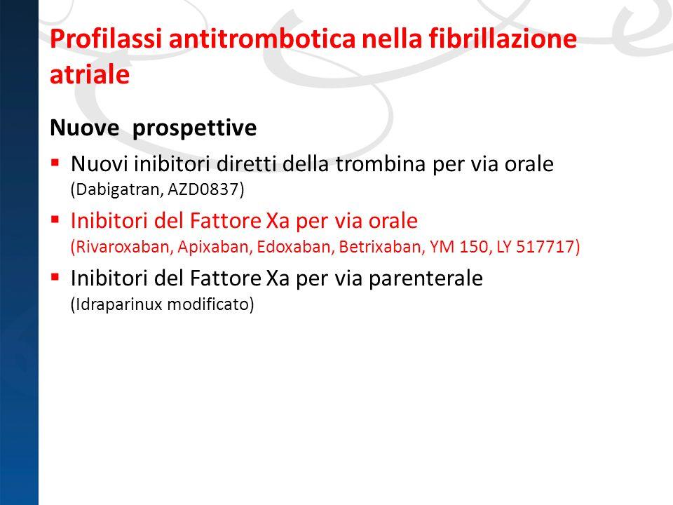 Profilassi antitrombotica nella fibrillazione atriale