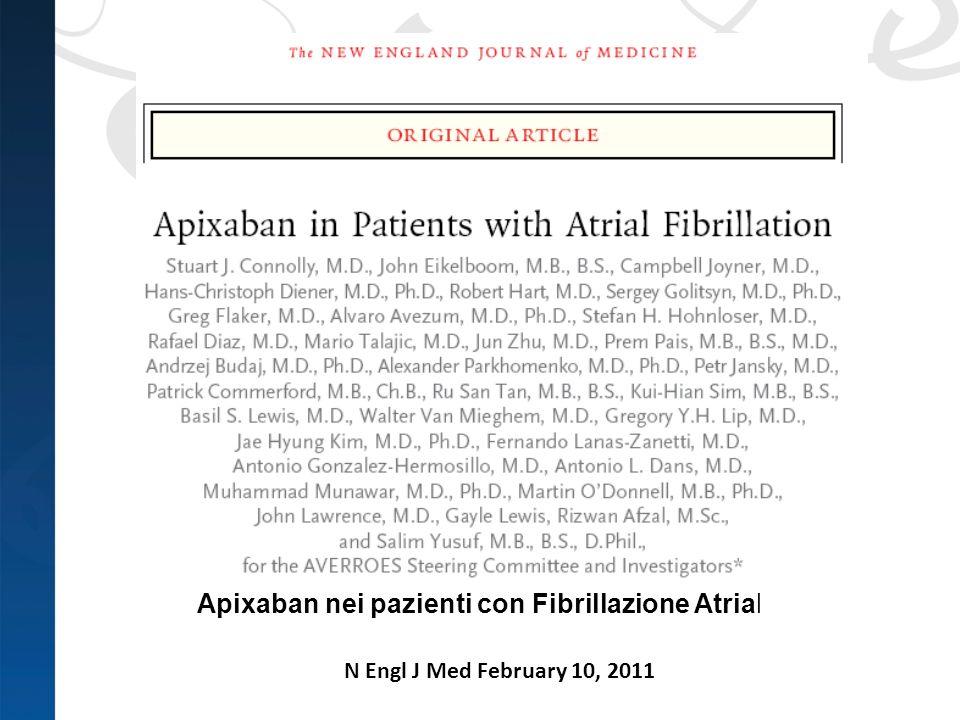 Apixaban nei pazienti con Fibrillazione Atriale