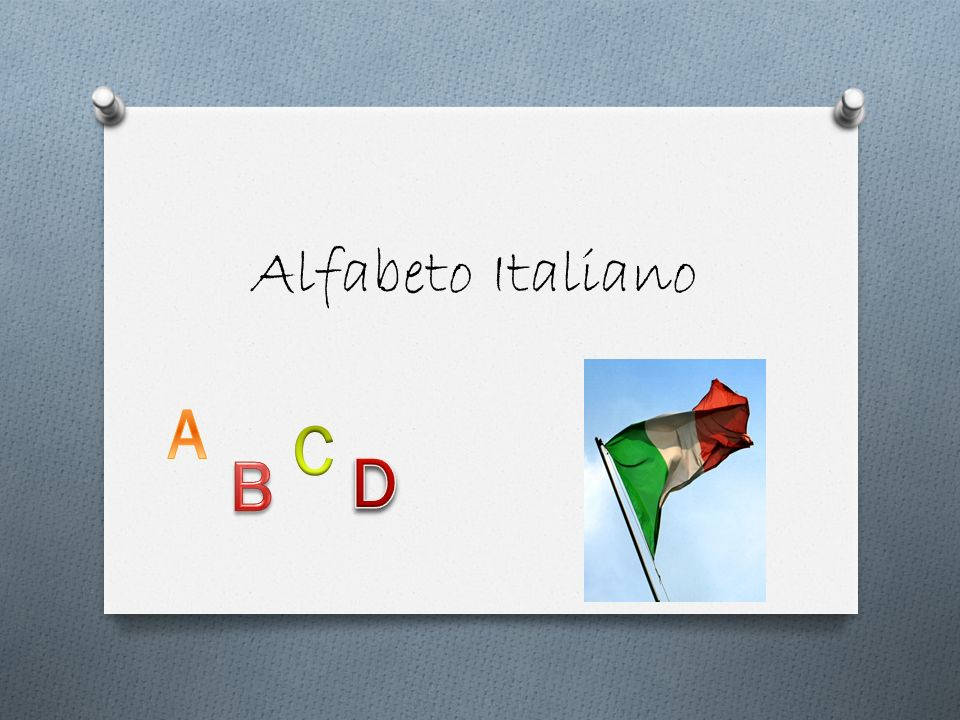 Alfabeto Italiano A C B D
