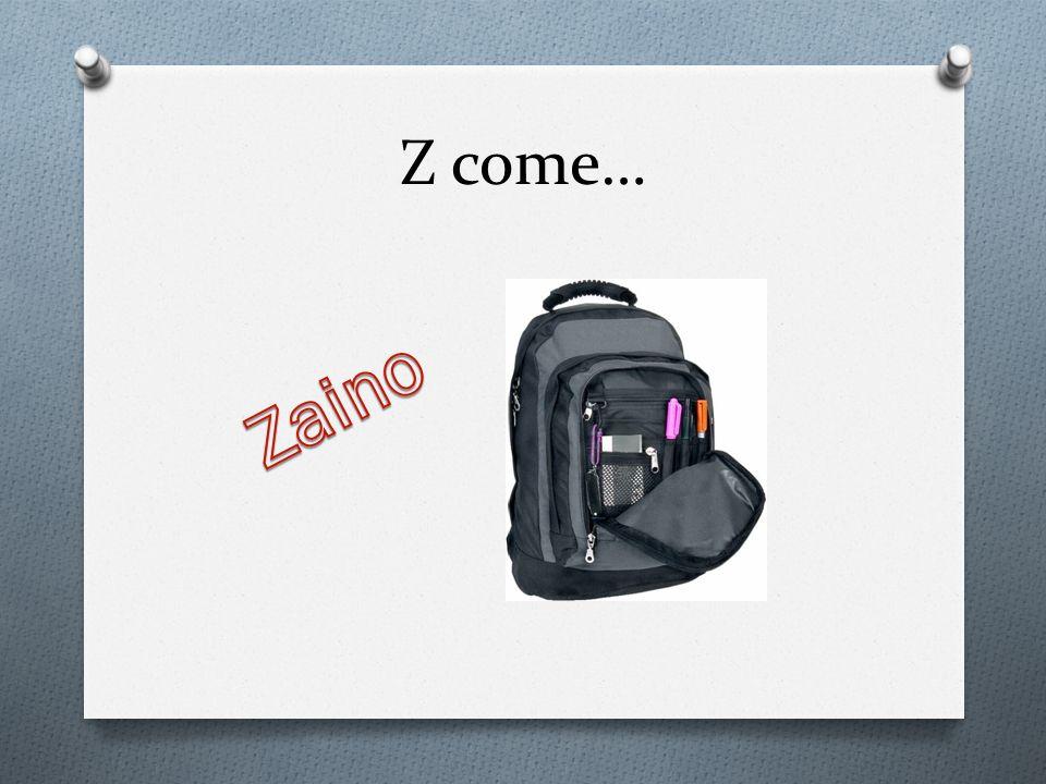 Z come… Zaino